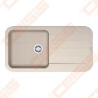 Fragranit universali pagal įstatymo puses plautuvė FRANKE Pebel PBG611-97 su ekscentriniu ventiliu ir indu, sachara spalvos