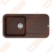 Fragranit universali pagal įstatymo puses plautuvė FRANKE Pebel PBG611-97 su ekscentriniu ventiliu ir indu, šokolado spalvos