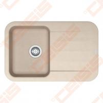 Fragranit universali pagal įstatymo puses plautuvė FRANKE Pebel PBG611 su ekscentriniu ventiliu ir indu, biežinės spalvos