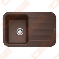 Fragranit universali pagal įstatymo puses plautuvė FRANKE Pebel PBG611 su ekscentriniu ventiliu ir indu, šokolado spalvos