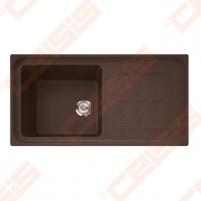 Fragranit universali plautuvė FRANKE Impact G IMG611-100 su ventiliu, šokolado spalvos