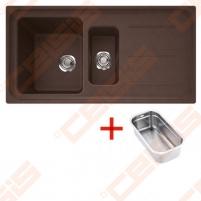 Fragranit universali plautuvė FRANKE Impact G IMG651 su ventiliu ir indu, šokolado spalvos