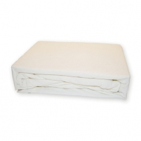 Frotinė paklodė su guma (balta), 160x200 cm