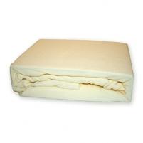Frotinė paklodė su guma (gelsva), 180x200 cm Paklodės