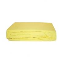 Frotinė paklodė su guma (gelsva), 200x220 cm Paklodės