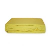 Frotinė paklodė su guma (geltona), 160x200 cm