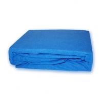 Frotinė paklodė su guma (mėlyna), 200x220 cm