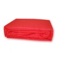 Frotinė paklodė su guma (raudona), 180x200 cm