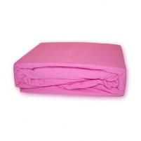 Frotinė paklodė su guma (rožinė), 200x220 cm