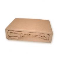 Frotinė paklodė su guma (šviesiai ruda), 200x220 cm Paklodės
