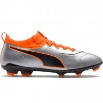 Futbolo bateliai Puma One 3 Lth FG Silver-Shock 104743 01 Futbolo apranga
