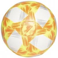 Futbolo kamuolys ADIDAS CONEXT 19 EKSTRAKLASA TOP CAPITANO ED4934 white-yellow Futbolbumbas