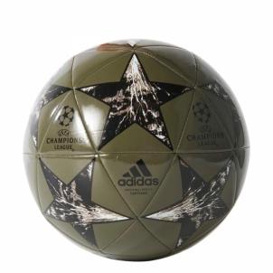 Futbolo kamuolys ADIDAS FINALE 17 BP7781, tamsiai žalias