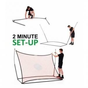 Futbolo vartų ir kamuolio atmušimo sienelės komplektas QuickPlay Elite Combo 2.4 x 1.8 m Futbolo vartai, tinklai