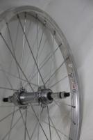 Galinis ratas 20 plienin. parallax freewheel įvorė, Alu viengubas ratlankis 28H