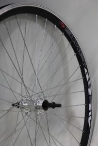 Galinis ratas 28 Alu freewheel įvorė, DoubleWall black ratlankis 30mm Dviračių ratai, padangos ir jų detalės