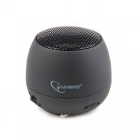 Gembird portable speaker (iPod, MP3 player, mobile phone, laptop), black Nešiojamos garso kolonėlės
