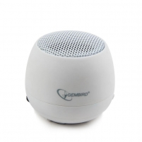 Gembird portable speaker (iPod, MP3 player, mobile phone, laptop), white