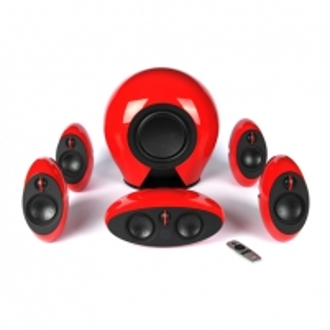 Garso kolonėlės Edifier Speakers red E255 2, 16W × 5 (treble) + 20W × 5 (mid-range) W