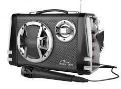Audio speakers Portable Bluetooth speaker system MediaTech Karaoke Boombox BT with mic.