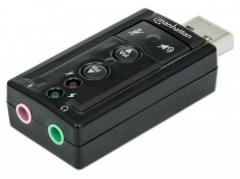 Manhattan Sound card Hi-Speed USB virtual 3D 7.1 with volume control Skaņas kartes