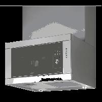 Tvaika nosūcējs Cata Chorus/A 2 in 1 Wall hood+microwave, Inox frame, 420 kub.m, 2x50 W Halogens, Outflow: 150/125mm