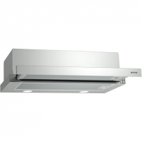 Garų surinktuvas Gorenje Hood BHP623E9X Telescopic, Width 60 cm, 430 m³/h, Stainless steel, Energy efficiency class E, 70 dB