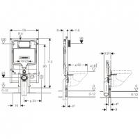 Geberit Duofix potinkinis rėmas unitazui, 112cm Potinkinės sistemos
