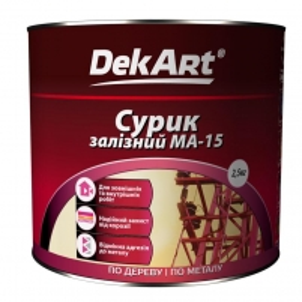 Geležies surikas MA-15 DekART raudonai rudas 2,5kg Statybiniai gruntai