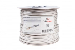 Gembird FTP foil shielded stranded cable, cat. 6, 7*0,18mm, CCA, 100m, gray