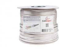 Gembird FTP foil shielded stranded cable, cat. 6, 7*0,18mm, CCA, 100m, gray Tīkla kabeļi