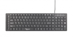 Gembird KB-MCH-01 Multimedia chocolate keyboard USB, US layout, black
