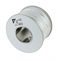 Gembird stranded unshielded 6-core alarm cable ,100m roll, white