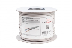Gembird UTP solid cable, cat. 5, CCA 100m (roll), gray