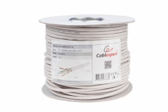 Gembird UTP solid unshielded gray cable, CCA, cat. 6, 100m, gray Tv, telephone and computer cables