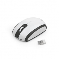Gembird Wireless optical mouse MUSW-105, 1200 DPI, nano USB, black-white