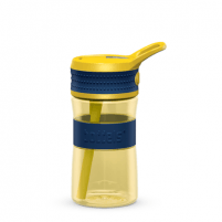 Gertuvė Boddels EEN Drinking bottle Bottle, Night blue/Yellow, Capacity 0.4 L, Diameter 7.5 cm, Bisphenol A (BPA) free