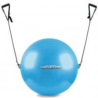Gimnastikos kamuolys inSPORTline 65 cm, su rankenomis Mankštos kamuoliai