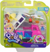 GKL49 Mattel Polly Pocket Pollyville Camper Van Vehicle