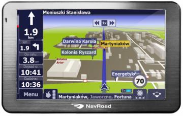 GPS navigacija - automobiliams NavRoad DRIVE HD Navigation GPS 5 AutoMapa EU GPS navigacinė technika