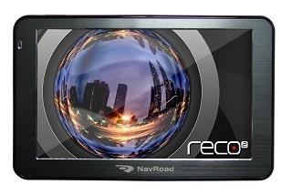 GPS navigacija NavRoad RECO2 + Navigator FREE EUROPE (GPS navigation, DVR + microSD 8GB) GPS navigacinė technika