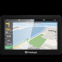 GPS navigacija Prestigio GeoVision 5056 (5.0, TFT, 480х272, Win CE 6.0, CPU MSTAR 2531A 800 MHz, 128 MB RAM, 4 GB internal, FM, 950 mAh, Black, Plastic, without navigation software) GPS navigacinė technika