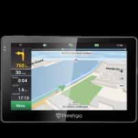 GPS navigacija Prestigio GeoVision 5057 (5.0, TFT, 480х272, Win CE 6.0, CPU 800 MHz, 128 MB RAM, 4 GB, 16 GB microSD, FM, 950 mAh, Black/Gun Metal, Plastic, Navitel, preinstalled maps of Full Europe) Free Lifetime Map update GPS navigacinė technika