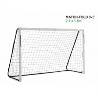 Greitai surenkami mobilūs futbolo vartai Quickplay Match 244x152x80cm Futbolo vartai, tinklai