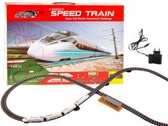 Greitasis traukinys su traukinio bėgiais Geležinkelis vaikams