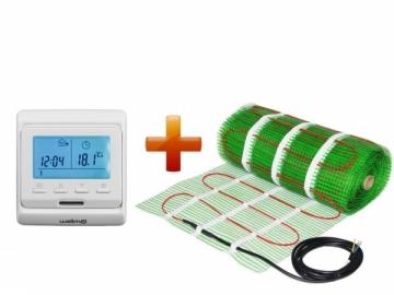 Grindinio šildymo tinklelio ir programuojamo termostato WELLMO MAT rinkinys 2,5m2