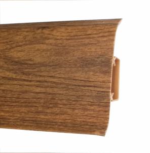 Plinth PVC 533 FLEX SMART oak burned Skirting (pvc, fiberboard, wood)
