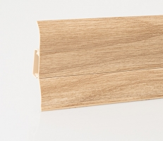Plinth PVC LP-60 Oak (132) Skirting (pvc, fiberboard, wood)