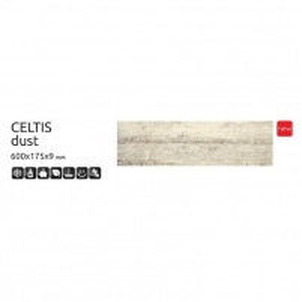 Grindų plytelės CELTIS Dust 600x175x9 mm akmens masė