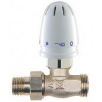 grįžtamo srauto temperatūros reguliavimo ventilis + termostatinis elementas MINI, HERZ RTL KOMPLEKTAS 1/2' iš-1/2' iš, tiesus Apkures sistēmu pārvaldību